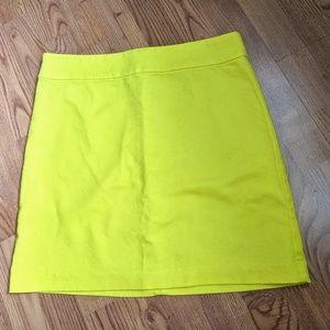 LOFT Golden Yellow Mini Skirt